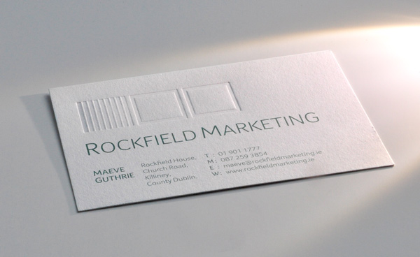 Rockfield Marketing Business Card Debossing